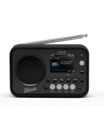 Roberts PLAY20B DAB+ FM Portable Radio in Black with Rubber Bumper