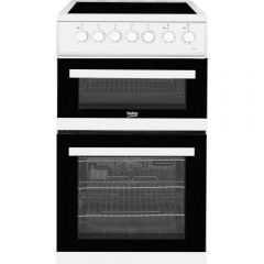 Beko EDVC503W Cooker 50cm Double Oven Electric