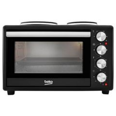Beko MSH28B Mini Cooker Twin Hob in Black