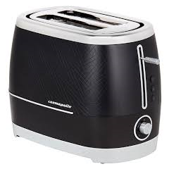 Beko TAM8202B Toaster Cosmopolis in Black with Chrome Accents