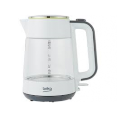 Beko WKM6321W Jug Kettle with Illuminated Glass Finish