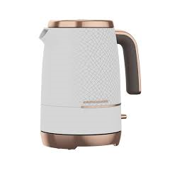 Beko WKM8306W Kettle Cosmopolis in White with Rose Gold Accents