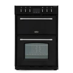 Belling F60EB Farmhouse Electric Cooker in Black 60cm Wide (444444711)