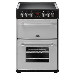 Belling F60ES Farmhouse Electric Cooker In Silver 60Cm Wide (444410789)