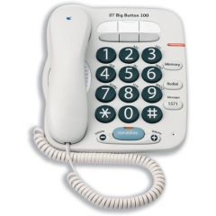 Bt Big Button Telephone in WHITE