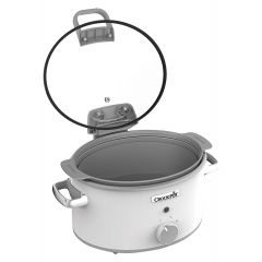 Crockpot CSC038 Saute Slow Cooker 4.7Litre Hinged Lid White