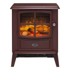 Dimplex BFD20BRG Brayford Optiflame in Burgundy Stove Remote Control Log Bed