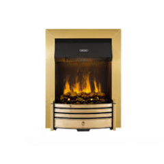 Dimplex CRS20 Crestmore Opti-myst Inset LED Fire in Brass