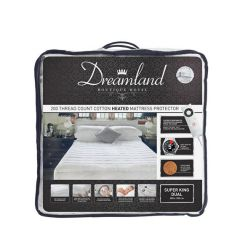 Dreamland 16442 Underblanket Super King, Ftted, Dual Control, Cotton