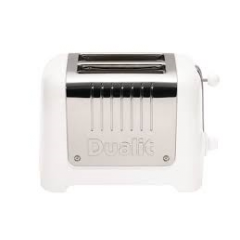 Dualit 26203 2 Slice Lite Toaster in Gloss White