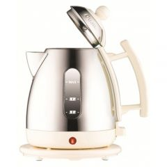 Dualit 72203 Mini Cordless Jug Kettle in Polished Chrome with Canvas White trim