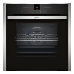 Neff B57CR23N0B Single Oven `Slide+Hide` Door