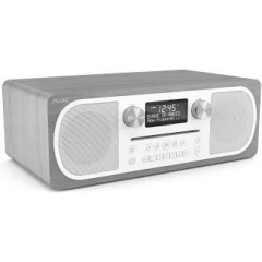 Pure CD6GO Evoke CD DAB FM Bluetooth in Grey Oak