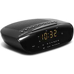 Roberts CR9971B Chronologic VI Alarm Clock Radio in Black