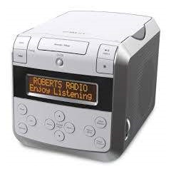 Roberts SOUND48W CD & DAB/FM Alarm Clock in White with Bluetooth