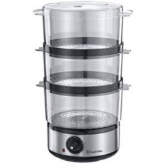 Russell Hobbs 14453 Compact Food Steamer in Brushed Stainless