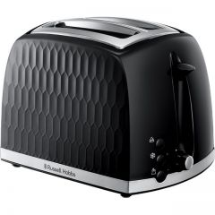 Russell Hobbs 26061 2 Slot Toaster in Black Honeycomb Effect