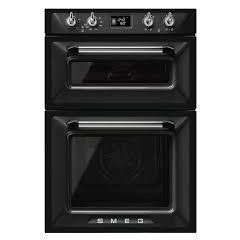 Smeg DOSF6920N1 Double Oven Built-In Victoria Style in Black