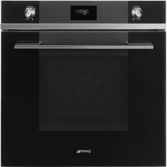 Smeg SFP6101TVN Single Pyrolitic Multifunction Oven in Black Linea Range