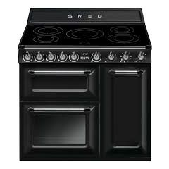 Smeg TR93iBL 90cm Victoria Cooker, Three Cavity, Induction Hob Black