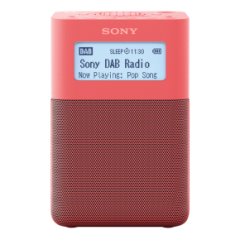 Sony XDRV20DP.CEK Portable DAB/FM Clock Radio in Pink