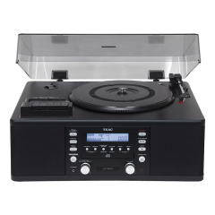 Teac LPR550USB Vinyl Copy Station Transfer Vinyl + Tape to CD/USB in Black