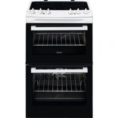 Zanussi ZCV46050WA Electric Cooker 55cm Double Oven
