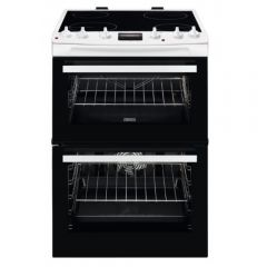 Zanussi ZCV66078WA Electric Cooker 60cm Double Oven White
