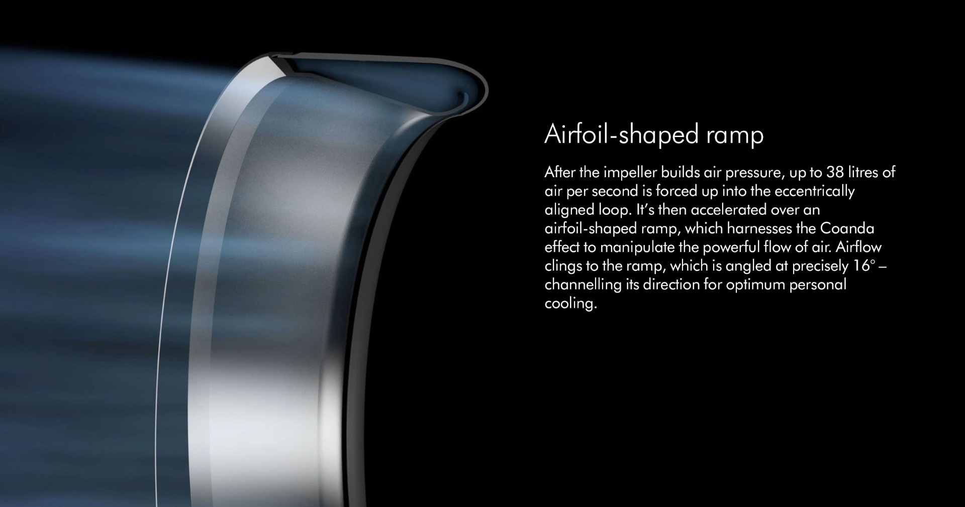 Airfoil-shaped ramp